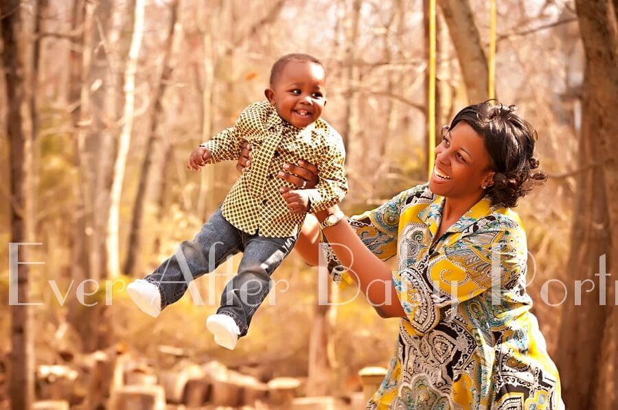 Northern Virginia newborn photographer | Fair Oaks VA | Portrait photography | Exercising With Mom And Baby