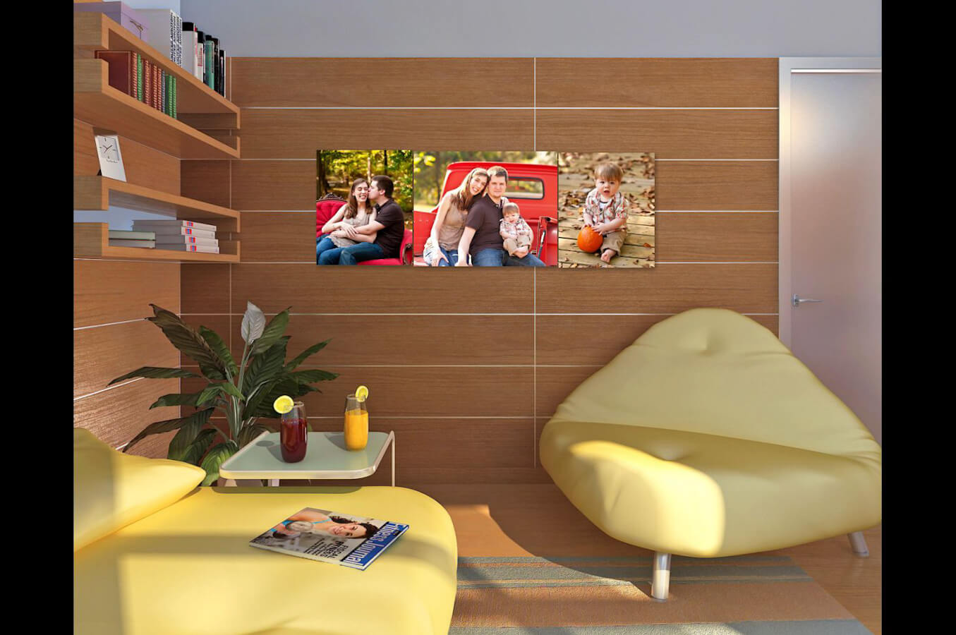 Family Room Wall Images.