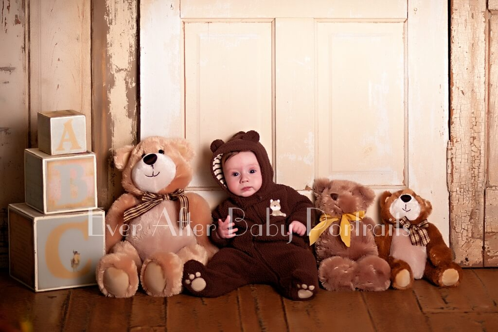 Baby Among Bears Portrait Session