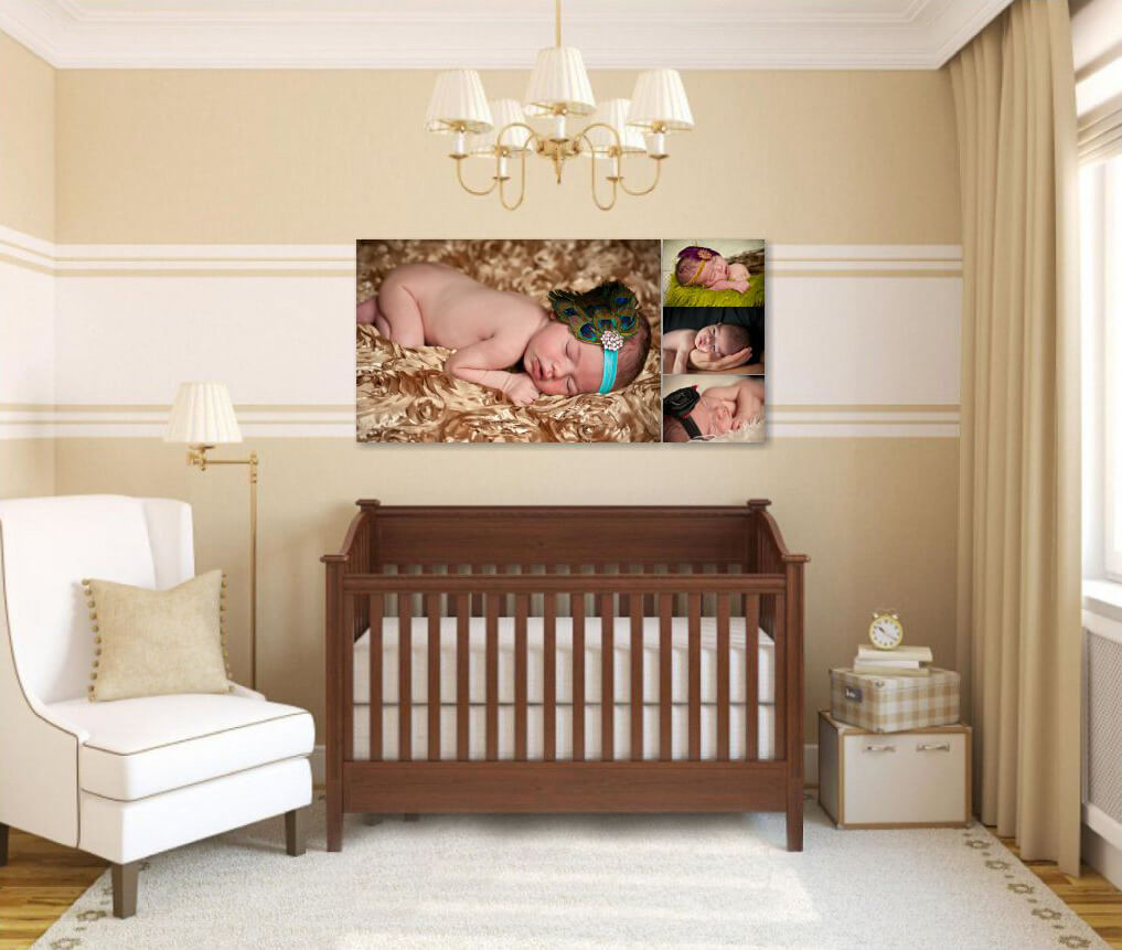 Baby Girl Wall Art Collection in the Nursery