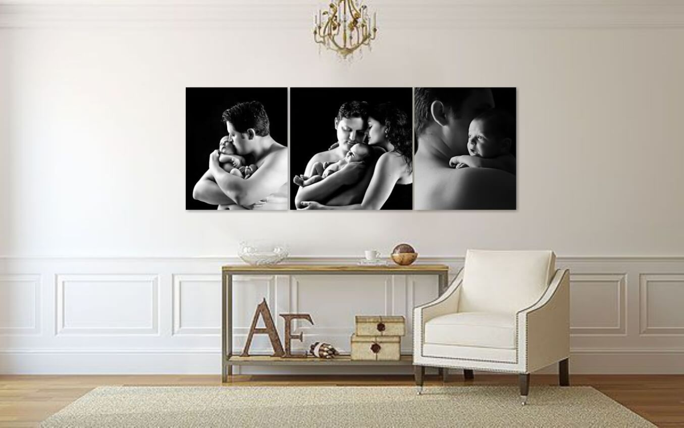 Newborn Wall Art Collection in the Hallway