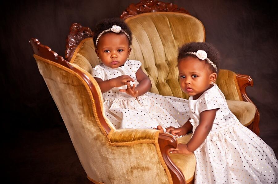 Watch out, Daddy! Twin Girls, Kennedy & McKenzie