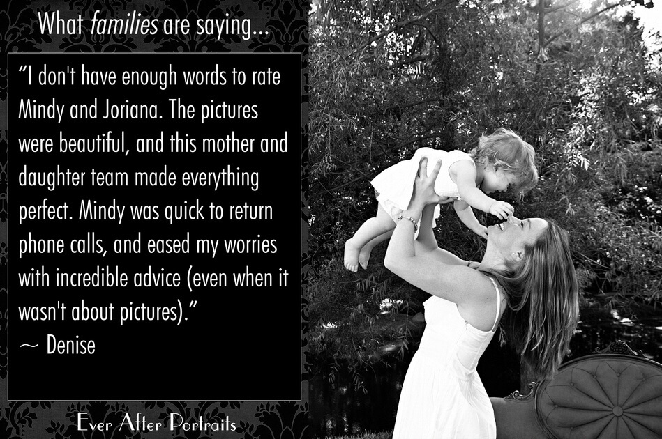 What families are saying, Denise & Samantha |Northern VA Baby Photographer